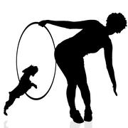Stock Illustration of Vector silhouette of a woman.