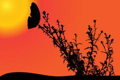 Stock Illustration of Vector nature silhouette.