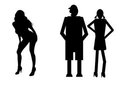 Funny silhouette Stock Illustration