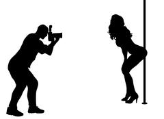 Silhouette photographer Piirros