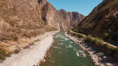Aerial view of river in remote gorge Stock Footage
