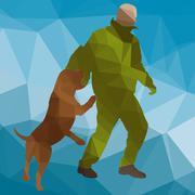 dog training - stock illustration
