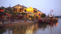 Early Evening in Hoi An, Vietnam Stock Footage
