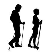 Vector silhouette of a couple. Stock Illustration