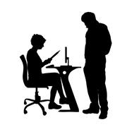 Vector silhouette of couple. Stock Illustration