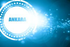 Blue stamp on a glittering background: ankara Stock Illustration