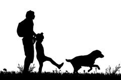 Vector silhouette of the family. Stock Illustration