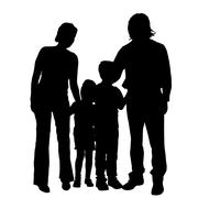 Vector family silhouette. Stock Illustration