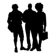 Vector men silhouette. - stock illustration