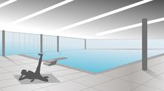 swimming pool - stock illustration