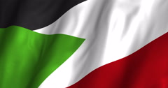Sudan Waving Flag 4K Stock Footage