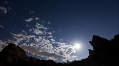 Super moon time lapse in national park Stock Footage