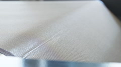 Part of equipment of extrusion line extremely close up Stock Footage