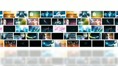 Video Marketing Across Multiple Channels and Networks Stock Footage