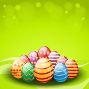 Vector decorated easter eggs Stock Illustration