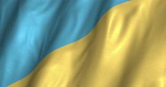 Ukraine Waving Flag 4K Stock Footage