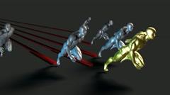 Racing to Success Stock Footage