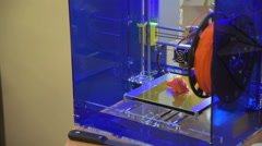 Architect working in office creating models for project using 3D printer. Stock Footage