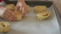 Making cinnamon rolls - stock footage