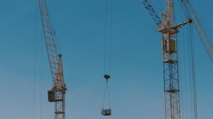 Construction of a brick high-rise building Stock Footage