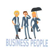 Stock Illustration of Business People Set 1