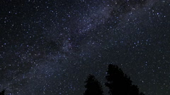 Milky way northern California time lapse Stock Footage