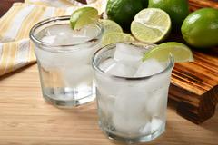 Lime spritzer - stock photo