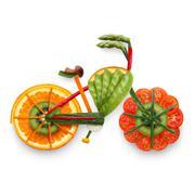 Fruity e-bike. Stock Photos