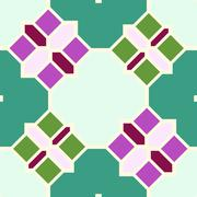 Abstract seamless geometric patterns. Kaleidoscope seamless - stock photo