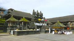 Hindu ritual in Besakih Temple.Bali - stock footage