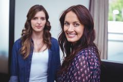 Portrait of beautiful women smiling Stock Photos