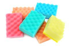 Foam sponge isolated on white background Stock Photos