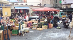People in Naples old town Stock Footage