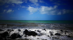 Rough sea in sunny day - stock footage