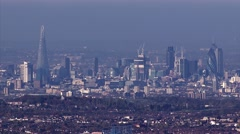 London Skyline: The Spike, The City from helicopter - stock footage
