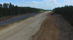 Highway Construction, S7,Aerial Shot Stock Footage