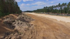 Construction of the expressway S7, Poland Stock Footage