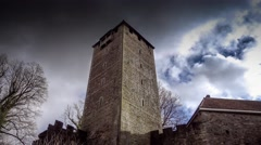 Tower of Schaumburg Castle in Germany Stock Footage