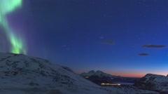 Northern Light (Aurora Borealis) During Dawn 4K Stock Footage