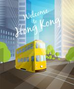 Welcome to Hong Kong. Stock Illustration