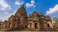 Phnom Rung Historical Park Ancient Travel Place Of Buriram, Thailand Stock Footage