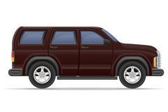 suv car vector illustration - stock illustration