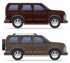 Suv car vector illustration Stock Illustration