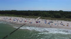 Holidays on the Baltic Sea, Aerial View. Stock Footage