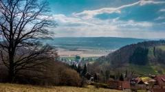 Landscape in sunlight in Schaumburg, Germany Stock Footage