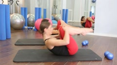 Aerobics pilates women personal trainer Stock Footage
