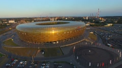 The Stadion Baltic Arena.//AERIAL FOOTAGE//02 - stock footage
