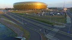 The Stadion Baltic Arena.//AERIAL FOOTAGE//05 - stock footage