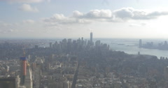 Looking South on Manhattan from midtown Stock Footage