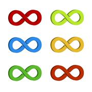 The infinity symbol in the vector Stock Illustration